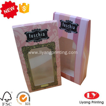 Hot cosmetic paper box with PVC window